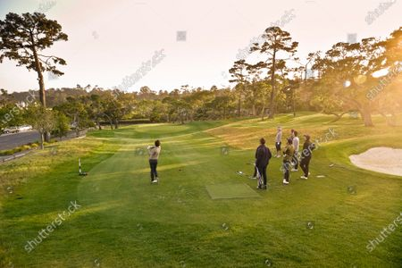 Stock Photo of Landscapes of 'The Hay' Par Three course, redesigned by multi major winner Tiger Woods, on its inauguration opening day
