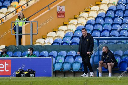 Mansfield Town manager Nigel Clough looks frustrated, looks dejected during the EFL Sky Bet League 2 match between Mansfield Town and Scunthorpe United at the One Call Stadium, Mansfield