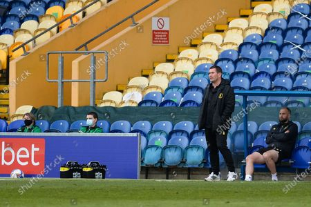 Mansfield Town manager Nigel Clough full length  during the EFL Sky Bet League 2 match between Mansfield Town and Scunthorpe United at the One Call Stadium, Mansfield