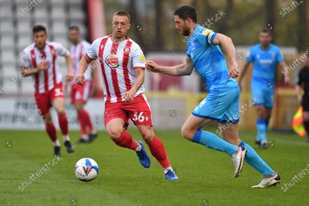 Luke Norris of Stevenage FC during Stevenage vs Cheltenham Town, Sky Bet EFL League 2 Football at the Lamex Stadium on 20th April 2021