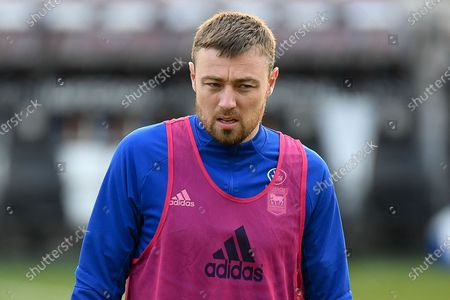 Stock Photo of Portrait of Ipswich Town striker Freddie Sears (20) during the EFL Sky Bet League 1 match between Northampton Town and Ipswich Town at the PTS Academy Stadium, Northampton
