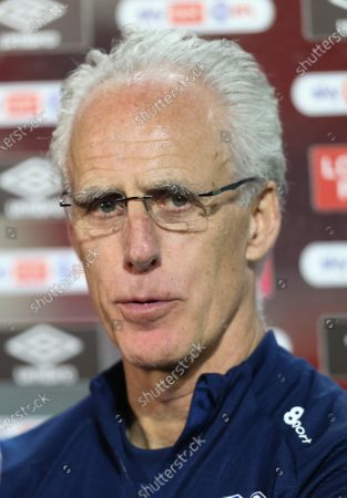 Cardiff City manager Mick McCarthy talks to media at the end of the match