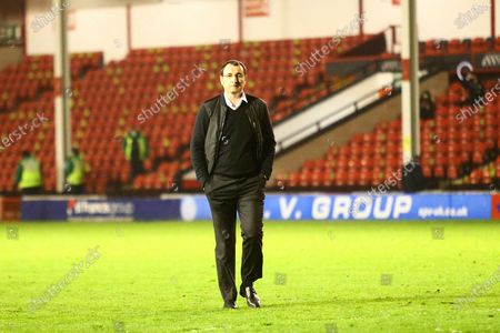 Stock Image of Salford City manager Gary Bowyer during the EFL Sky Bet League 2 match between Walsall and Salford City at the Banks's Stadium, Walsall