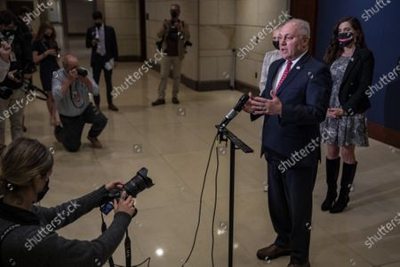 House Minority Whip Steve Scalise, R-LA., gives a press conference at the U.S. Capitol in Washington, DC on Tuesday April 20 2021. Scalise talked about the ongoing immigration situation at the US-Mexico border.