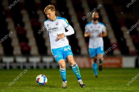 Josh Wright of Crawley Town during the EFL Sky Bet League 2 match between Newport County and Crawley Town at Rodney Parade, Newport