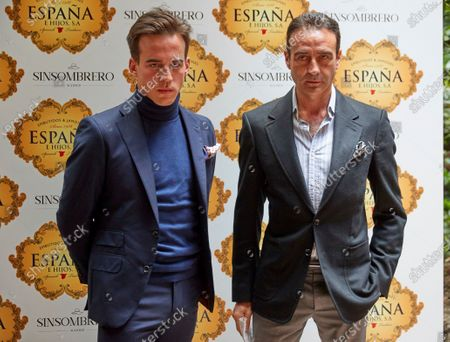 Stock Picture of Enrique Ponce and Gonzalo Caballero attend the presentation of the bullfighting poster in a hand in hand between the bullfighters Enrique Ponce and Gonzalo Caballero at Terraza The Chapel.