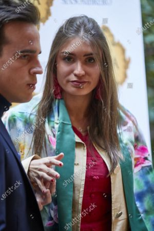Gonzalo Caballero y novia attend the presentation of the bullfighting poster in a hand in hand between the bullfighters Enrique Ponce and Gonzalo Caballero at Terraza The Chapel.