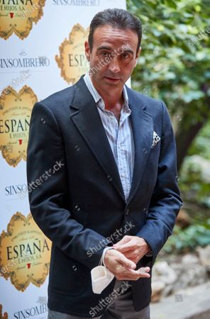 Enrique Ponce attend the presentation of the bullfighting poster in a hand in hand between the bullfighters Enrique Ponce and Gonzalo Caballero at Terraza The Chapel.