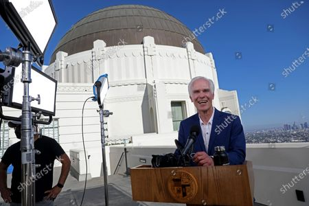 Editorial image of Eric Garcetti State of the City address, Los Angeles, California, USA - 19 Apr 2021