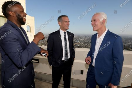 Editorial photo of Eric Garcetti State of the City address, Los Angeles, California, USA - 19 Apr 2021