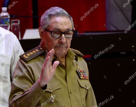 Army General Raul Castro Ruz as he waves during the Closing Session of the VIII Congress of the PCC, at the Palacio de Convenciones, in Havana, Cuba 19 April 2021. Cuban President Miguel Díaz-Canel announced on 19 April that he will continue to consult with Raul Castro on 'strategic decisions for the future of the nation' after replacing the 89-year-old general as first secretary of the Communist Party of Cuba (PCC).