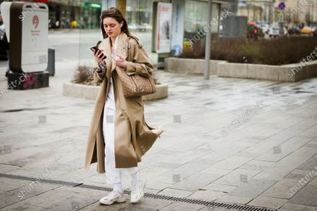 Street Style during Mercedes-Benz Fashion Week Russia