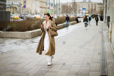 Stock Photo of Street Style during Mercedes-Benz Fashion Week Russia