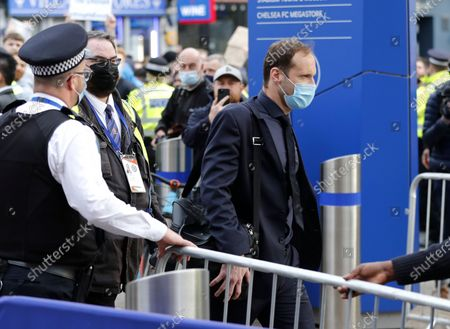 Chelsea's technical and performance advisor and Chelsea's former goalkeeper Petr Cech arrives at the stadium before the English Premier League soccer match between Chelsea FC and Brighton & Hove Albion FC in London, Britain, 20 April 2021.