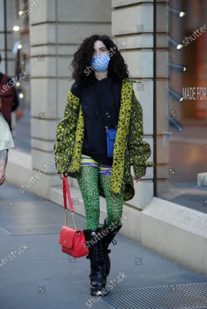 Editorial photo of Chiara Scelsi out and about, Milan, Italy - 20 Apr 2021