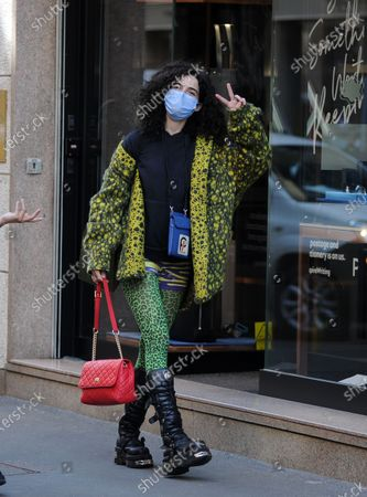 Editorial image of Chiara Scelsi out and about, Milan, Italy - 20 Apr 2021