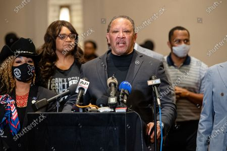 Marc Morial, President of the National Urban League speaks during a news conference after the verdict was read in the trial of former Minneapolis police Officer Derek Chauvin in the death of George Floyd on April 20, 2021 in Minneapolis, MN.