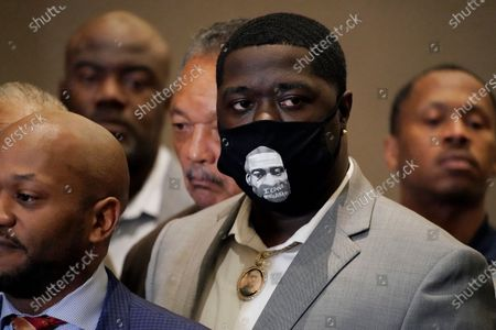 George Floyd's nephew Brandon Williams joins in a news conference after the verdict was read in the trial of former Minneapolis Police Officer Derek Chauvin, in Minneapolis. A jury convicted Chauvin on murder and manslaughter charges in the death of Floyd's in May 2020