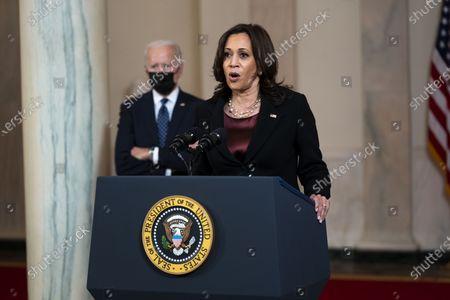 Editorial photo of Biden, Harris deliver remarks following Derek Chauvin verdict, Washington, USA - 20 Apr 2021