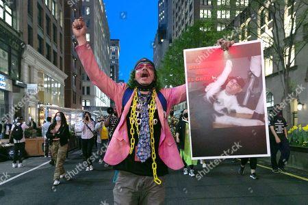 Fire Delgado and Abolish the SRG March, Union Square, New York