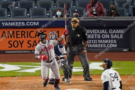 Editorial picture of Braves Yankees Baseball, New York, United States - 20 Apr 2021