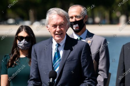 U.S. Senator Ed Markey (D-MA) speaks at a press conference about the Green New Deal related legislation.