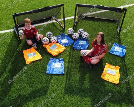 Editorial image of Harmony Row Patron Sir Alex Ferguson Backs UEFA Euro 2020 Project as Govan Youth Club Receives Legacy Pack, Harmony Row, Glasgow, Scotland  UK - 15 Apr 2021
