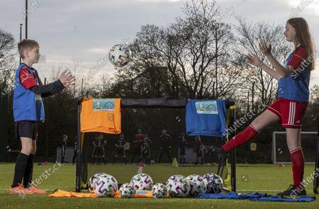 Editorial photo of Harmony Row Patron Sir Alex Ferguson Backs UEFA Euro 2020 Project as Govan Youth Club Receives Legacy Pack, Harmony Row, Glasgow, Scotland  UK - 15 Apr 2021