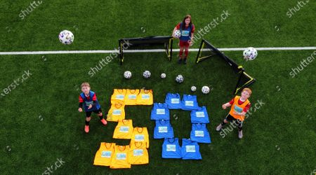Editorial picture of Harmony Row Patron Sir Alex Ferguson Backs UEFA Euro 2020 Project as Govan Youth Club Receives Legacy Pack, Harmony Row, Glasgow, Scotland  UK - 15 Apr 2021