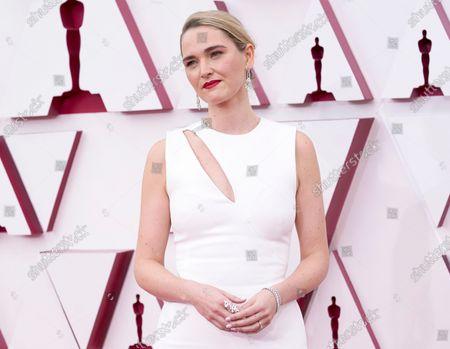 Jena Friedman arrives at the Oscars