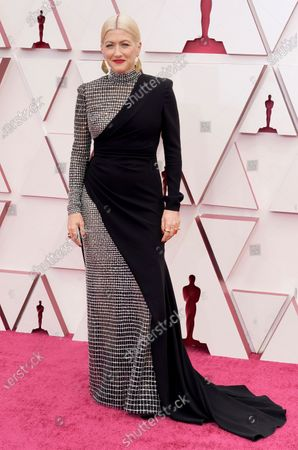 Stock Picture of Trish Summerville arrives at the Oscars