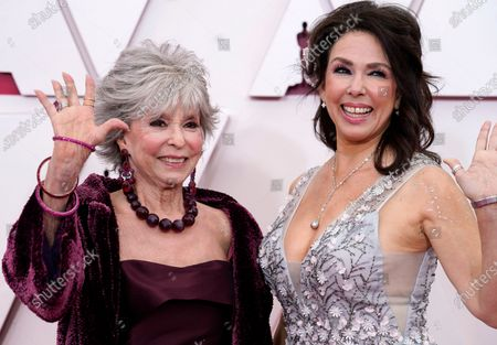 Rita Moreno, left, and Fernanda Luisa Gordon arrive at the Oscars