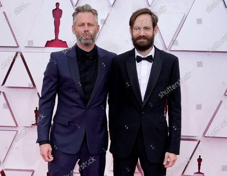 Stock Photo of Darius Marder, left, and Abraham Marder arrive at the Oscars