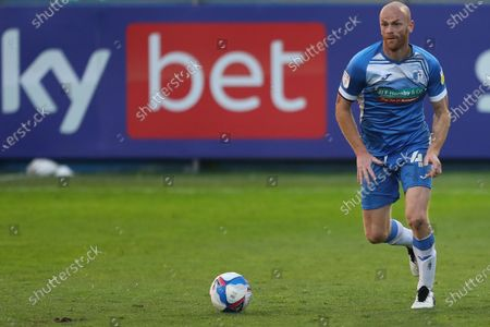 Jason Taylor of Barrow during the Sky Bet League 2 match between Barrow and Port Vale at the Holker Street, Barrow-in-Furness on Tuesday 20th April 2021.
