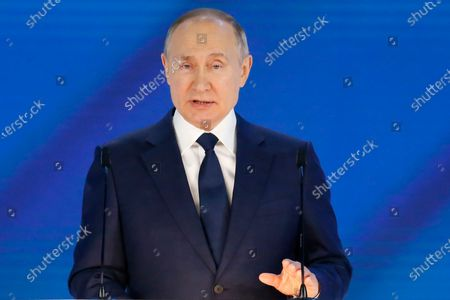 President Putin gives his annual state of the nation address, Manezh