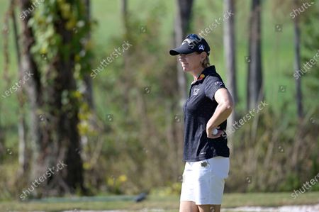 Annika Sorenstam, of Sweden, waits to putt on the first green during the final round of the Tournament of Champions LPGA golf tournament, in Lake Buena Vista, Fla