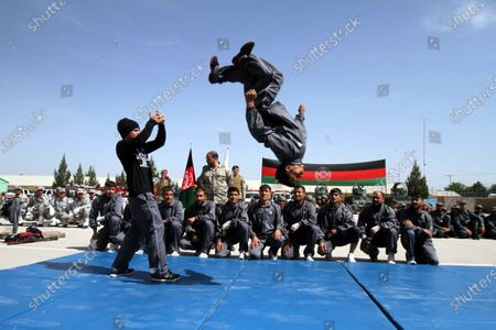 Afghan security forces show their skills during summer training in Herat, Afghanistan, 21 April 2021. Afghans are anticipating a surge in violence after the United States announced that it would withdraw its troops from Afghanistan by 11 September, despite Washington promising continued assistance during a surprise visit by US Secretary of State Antony Blinken.