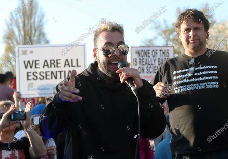 Chris Sky attends anti-lockdown rally, Vancouver