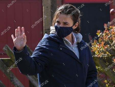 Hayley Atwell on location during the filming of Mission Impossible 7