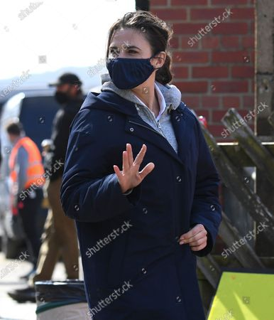Stock Photo of Hayley Atwell on location during the filming of Mission Impossible 7
