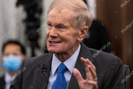 NASA Administrator nominee former US Senator Bill Nelson (Democrat of Florida), FL, testifies during a Senate Commerce, Science, and Transportation Committee nomination hearing on Capitol Hill, in Washington,