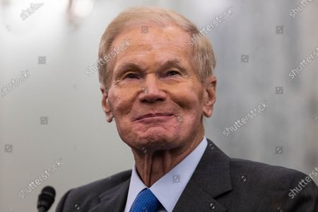 NASA Administrator nominee former US Senator Bill Nelson (Democrat of Florida) looks on during a Senate Commerce, Science, and Transportation Committee nomination hearing on Capitol Hill, in Washington,