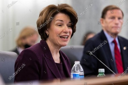 United States Senator Amy Klobuchar (Democrat of Minnesota), speaks during a Senate Commerce, Science, and Transportation Committee hearing on the nomination of former US Senator Bill Nelson (Democrat of Florida) to be NASA administrator, on Capitol Hill, in Washington,
