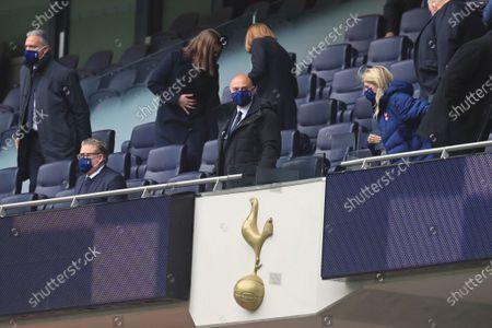 Tottenham Hotspur chairman Daniel Levy arrives for an English Premier League soccer match between Tottenham Hotspur and Southampton at the Tottenham Hotspur Stadium in London, England
