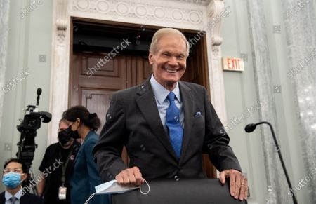 Bill Nelson, NASA Administrator nominee, arrives for his confirmation hearing before the Senate Committee on Commerce, Science, and Transportation on Capitol Hill in Washington, DC, April 21, 2021.