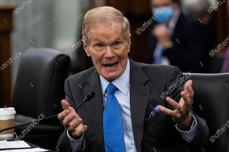 Bill Nelson, NASA Administrator nominee, testifies during his confirmation hearing before the Senate Committee on Commerce, Science, and Transportation on Capitol Hill in Washington, DC, April 21, 2021.