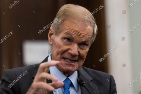 NASA Administrator nominee Former Senator Bill Nelson, FL, testifies during a Senate Commerce, Science, and Transportation Committee nomination hearing on Capitol Hill, in Washington, DC, USA, 21 April 2021.