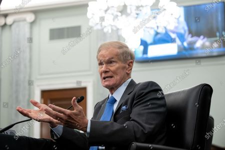 Former US Senator Bill Nelson, nominee to be administrator of NASA, testifies during a  Senate Committee on Commerce, Science, and Transportation confirmation hearing on Capitol Hill in Washington, DC, USA, 21 April 2021.