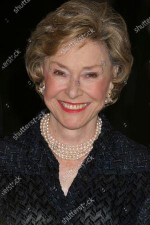 Joan Ganz Cooney attends United Nations Association Global Leadership Awards Dinner at the Waldorf Astoria in New York City on September 30, 2004.