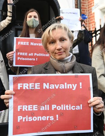 Editorial picture of Alexei Navalny protest in London, United Kingdom - 21 Apr 2021